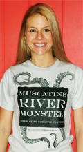 Susanna with her River Monster swag!