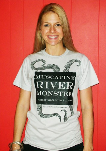 Susanna with her Muscatine River Monster Tee