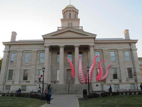 Kraken on Old Iowa Capitol 3- Iowa City - photo by Kathie Gonzales