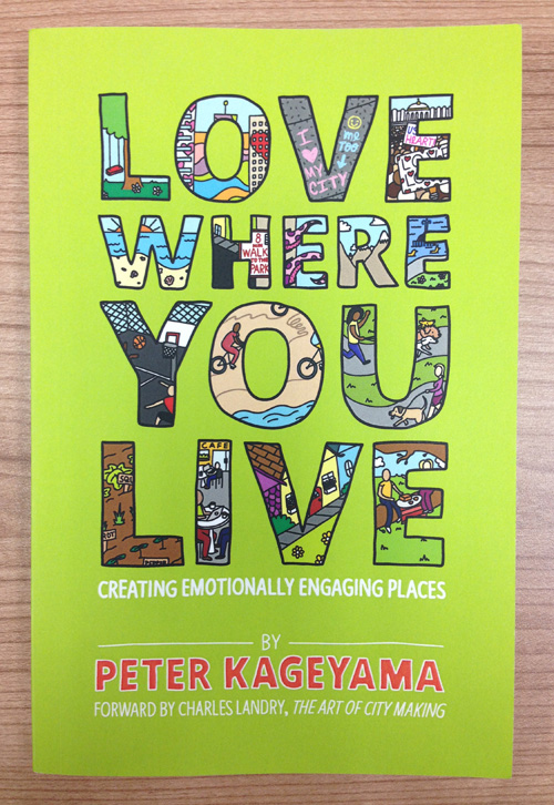 Love Where You Live - Peter Kageyama - Cover - Muscatine River Monster - Andrew K Anderson